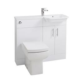 Ria Combi Right Hand Basin & WC Unit