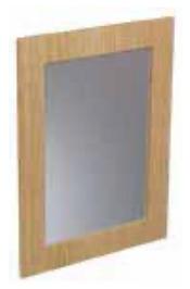 CABANA 600mm Framed Mirror - Grey Gloss