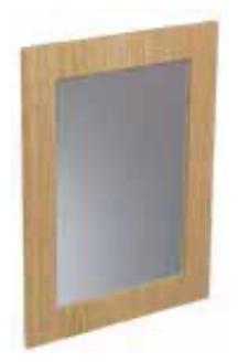 CABANA 500mm Framed Mirror - Grey Gloss