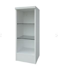 Purity 300mm Open Glass Shelf Unit-White