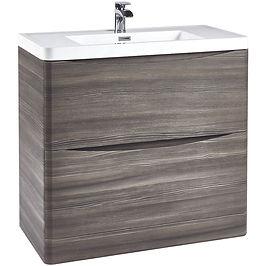 Bella 900 Floor Cabinet Avola Grey With Basin