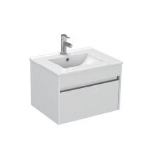 Gloss White Wall Mounted Basin 610mm - Icladd Solid PVC Furniture