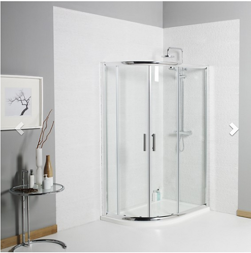 Koncept Offset Quadrant Shower Enclosure - 1200x900mm