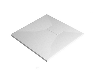 White Stone Effect Square Tray 900 x 900mm