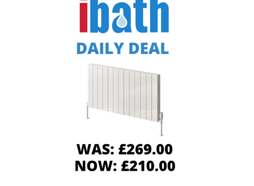 DEAL OF THE DAY: CASINA ALUMINIUM RADIATOR - 600 X 470 WHITE DOUBLE