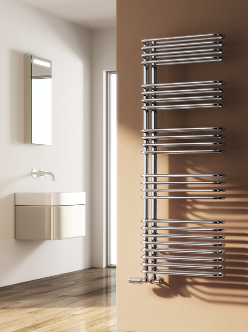 BORGO DESIGNER RADIATOR - 1300 x 500 CHROME