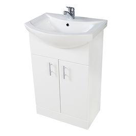 Lanza 550mm Basin Unit Gloss White With Basin