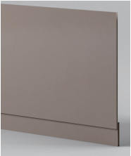 Stone Grey Front Panel - Icladd Solid PVC Furniture