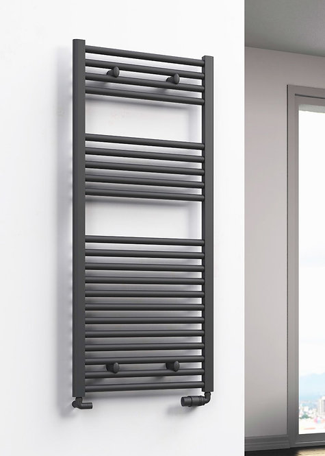 DIVA 1800 x 500 TOWEL RAIL ANTHRACITE FLAT