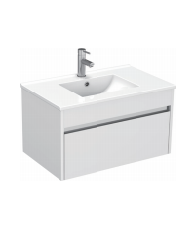 Gloss White Wall Mounted Basin 760mm - Icladd Solid PVC Furniture
