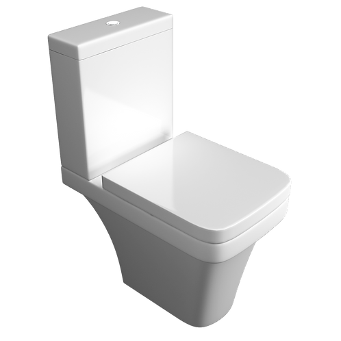Sicily Close to Wall CC WC Pan, Cistern & Seat