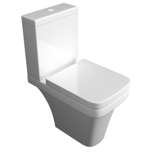 Sicily Comfort Height CC WC Pan, Cistern & Seat