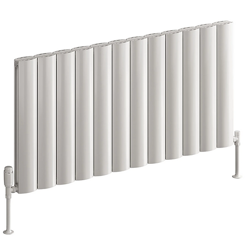 BOVA 600 x 470 WHITE SINGLE ALUMINIUM RADIATOR