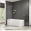 Thumbnail: TEMPEST LEFT HAND SHOWER BATH, SCREEN AND SIDE PANEL SET 1500MM