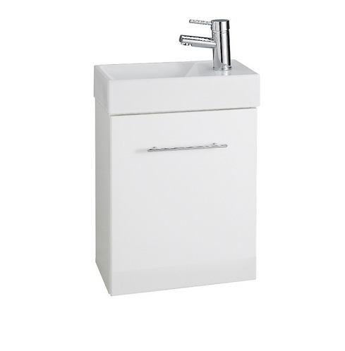 Encore Wall Mounted Cube Cloakroom Unit with Basin