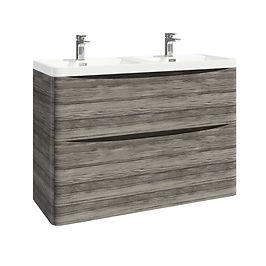 Bella 1200 Floor Cabinet Avola Grey With Basin