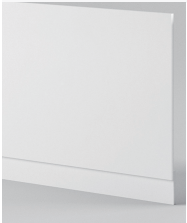 Gloss White Front Panel - Icladd Solid PVC Furniture