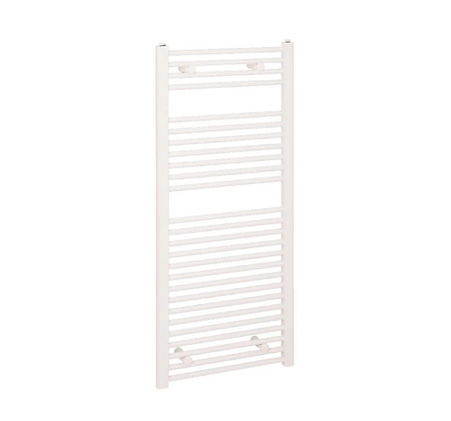 DIVA 400 X 1200 TOWEL RADIATOR WHITE CURVED