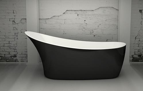 Noa Black 1590 Slipper Freestanding Bath