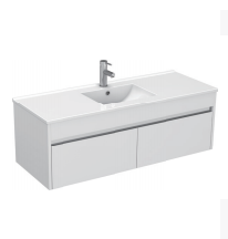 Gloss White Wall Mounted Basin 1210mm - Icladd Solid PVC Furniture