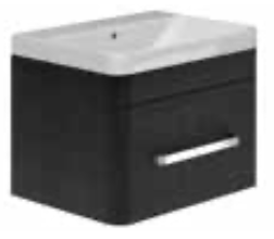 EYE KONIC 600mm 1 Drawer Basin Unit and Basin