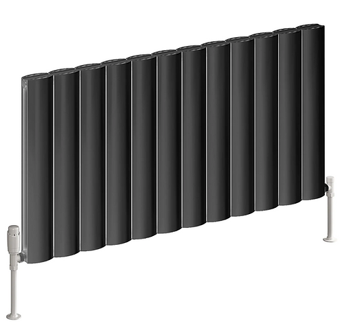 BELVA ALUMINIUM RADIATOR - 600 X 1244 SINGLE ANTHRACITE