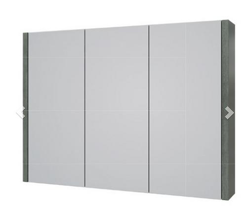 Purity 900mm Mirror Cabinet - Grey Ash