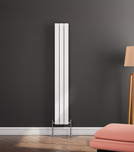 FLAT VERT DESIGNER RADIATOR 1800 X 218 SINGLE WHITE