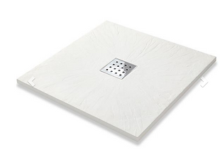 Slate Effect Shower Trays Square Trays - 900mm White