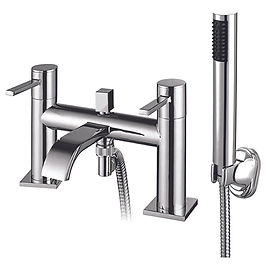 Neo Bath Shower Mixer with Shower Kit and Wall Bracket