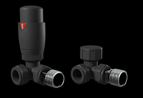 Anthracite Corner Thermostatic Radiator Valve Pack