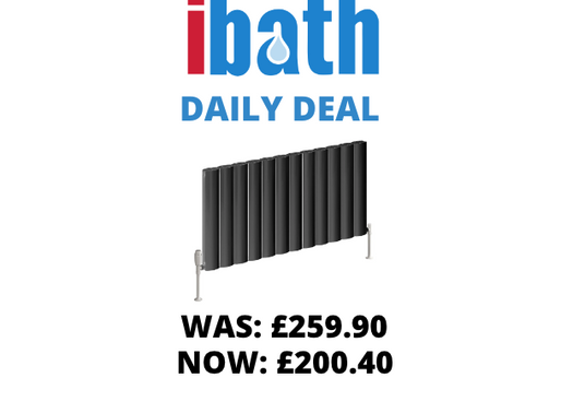 DEAL OF THE DAY: BELVA ALUMINIUM RADIATOR - 600 X 1036 SINGLE ANTHRACITE