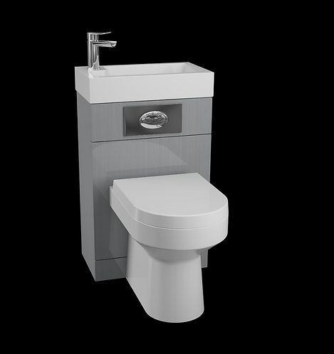 Futura Gloss Grey WC Unit with Daisy Lou Pan & Seat