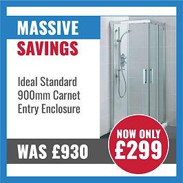 Deal: Ideal Standard 900mm Carnet Entry Enclosure