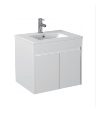Gloss White Wall Mounted Basin 600mm - Icladd Solid PVC Furniture