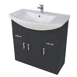 Lanza 750mm Basin Unit Anthracite With Basin