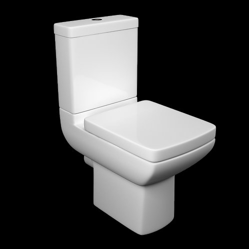 Pure CC WC Pan, Cistern & Seat