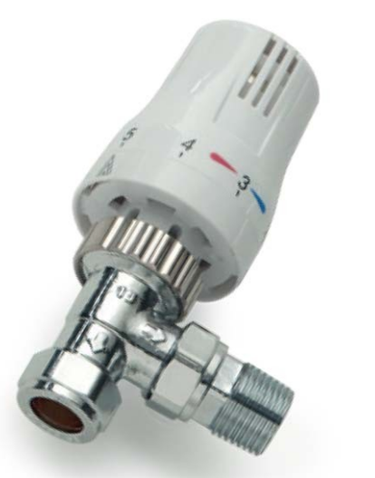 Refined All Chrome Thermostatic Valve Straight