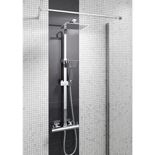 Quadrato Square Style Thermostatic Shower Kit