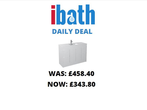 DEAL OF THE DAY: Gloss White Wall Mounted Basin 750mm - Icladd Solid PVC Furniture