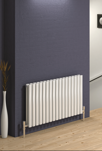 NEVA DESIGNER RADIATOR - 550 X 590 DOUBLE WHITE