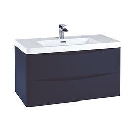 Bella 900 Wall Cabinet Indigo Blue With Basin