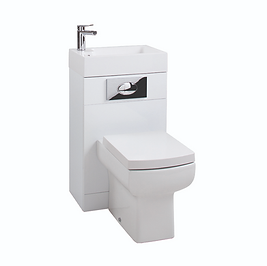 Gloss White WC Unit with Daisy Lou Pan & Seat