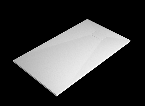 White Stone Effect Shower Tray 1200 x 700mm