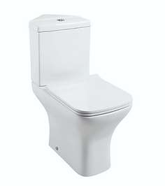 Fair Corner Close Coupled Pan & Cistern - Slimline Seat