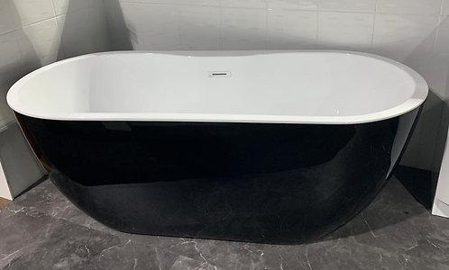 Black Freestanding Bath 1675x740mm