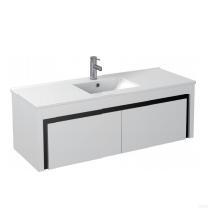 Gloss White Wall Mounted Basin 1200mm - Icladd Solid PVC Furniture
