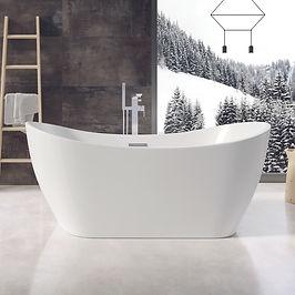 Aruba Bath In Acrylic White