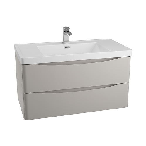 Bali Grey 900 Wall Mounted Cabinet & Basin