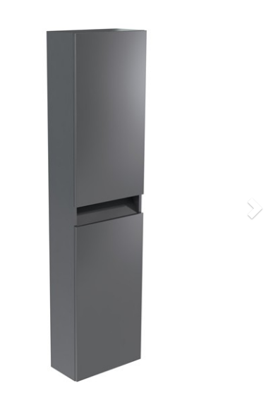 Ikon Wall Mounted Tall Storage Unit Left Hand - Grey